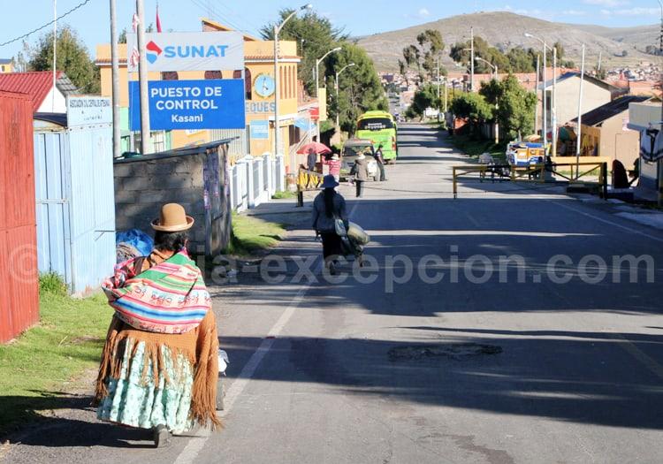 Frontière de Kasani, Bolivie Pérou