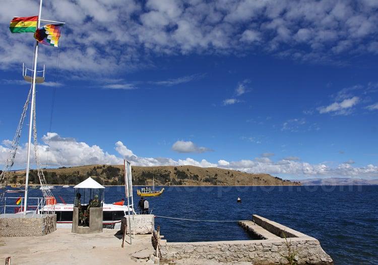 Port de Copacabana, lac Titicaca