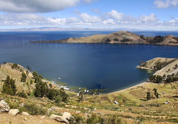 Baie de Kuna, île du Soleil, lac Titicaca