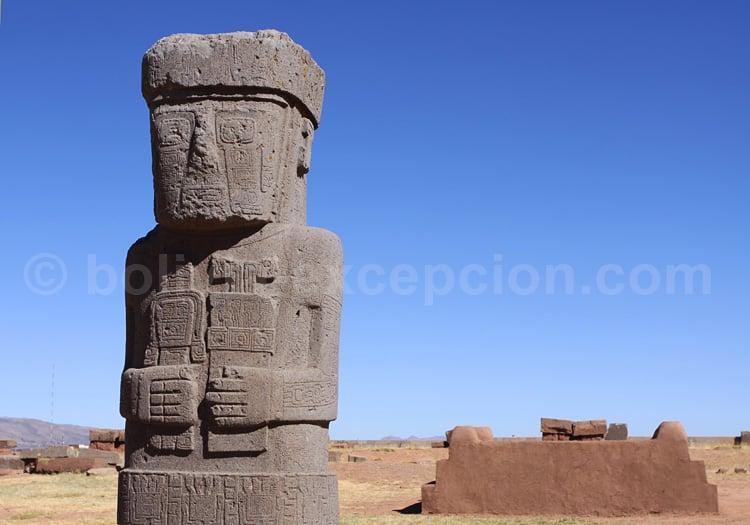 Site de Tiwanaku, monolithe Ponce