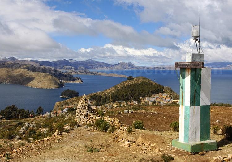 Yampupata vu depuis Yumani, isla del Sol