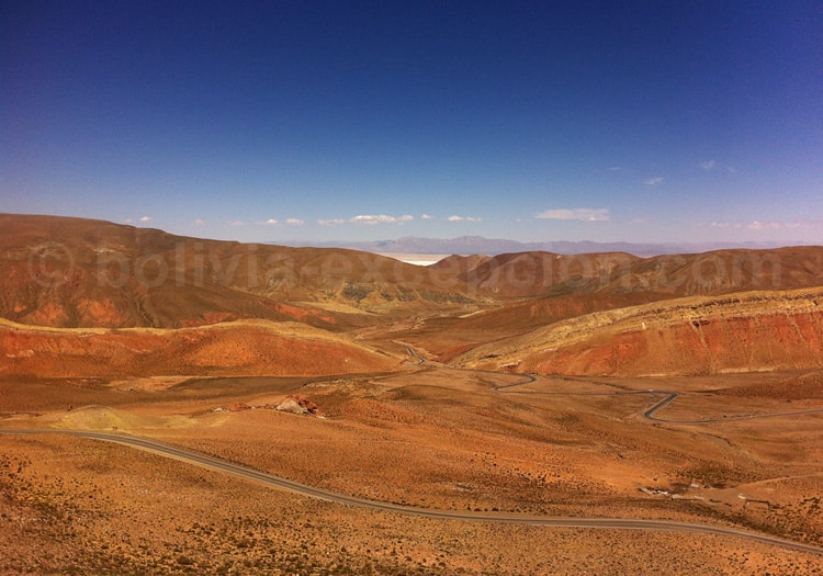 Salinas Grandes depuis l'Abra de Lipan 4170 m