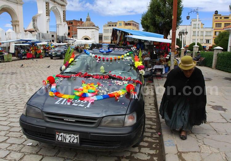 Bénédiction des voitures, Copacabana, Bolivie