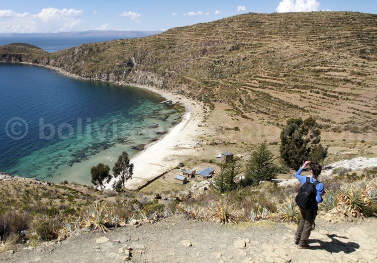 Trekking sur l'île du Soleil, lac Titicaca