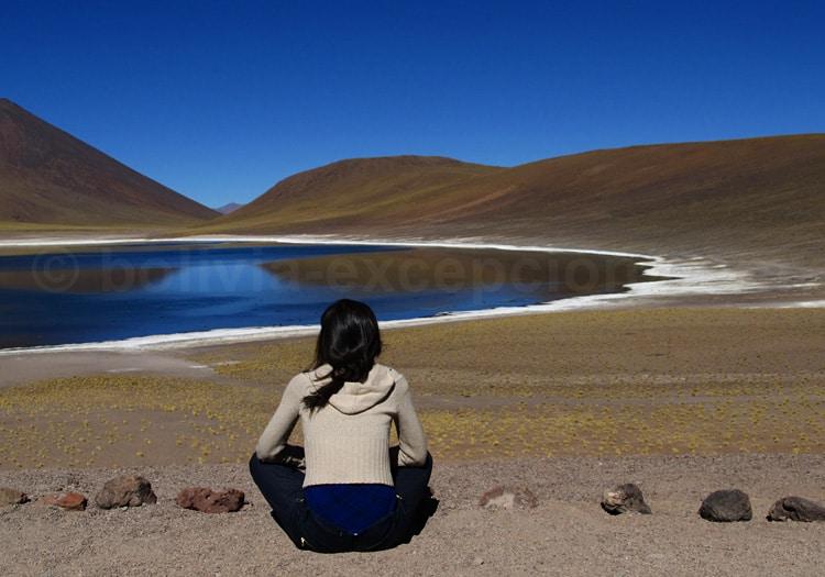 Contemplation de la lagune Miniques
