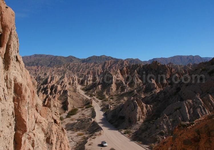 Sur la 40 dans la Quebrada de Las Flechas