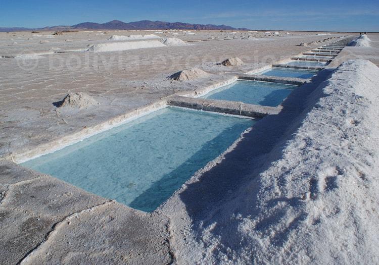 Bassins d'évaporation à Salinas Grandes