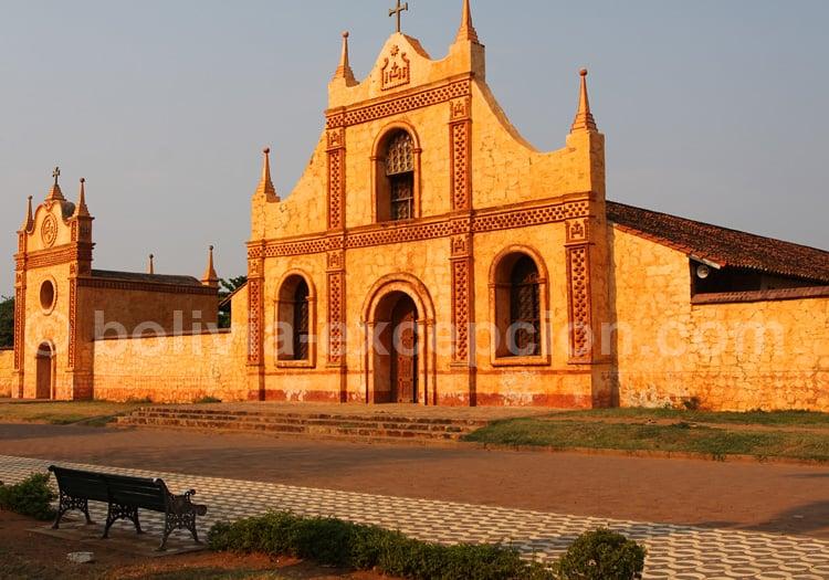 Fronton de l'église de San José de Chiquitos