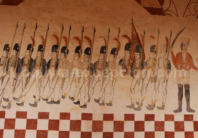 Défilé de soldats espagnols, musée de San Jose de Chiquitos