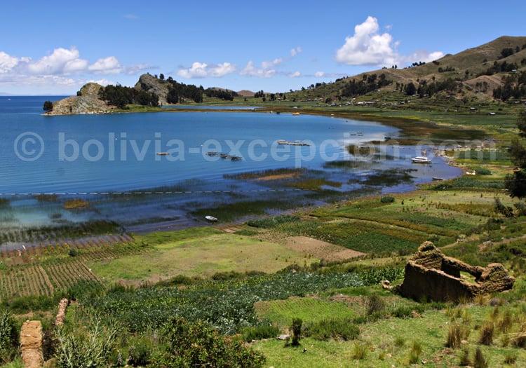 Baie de Copacabana, lac Titicaca