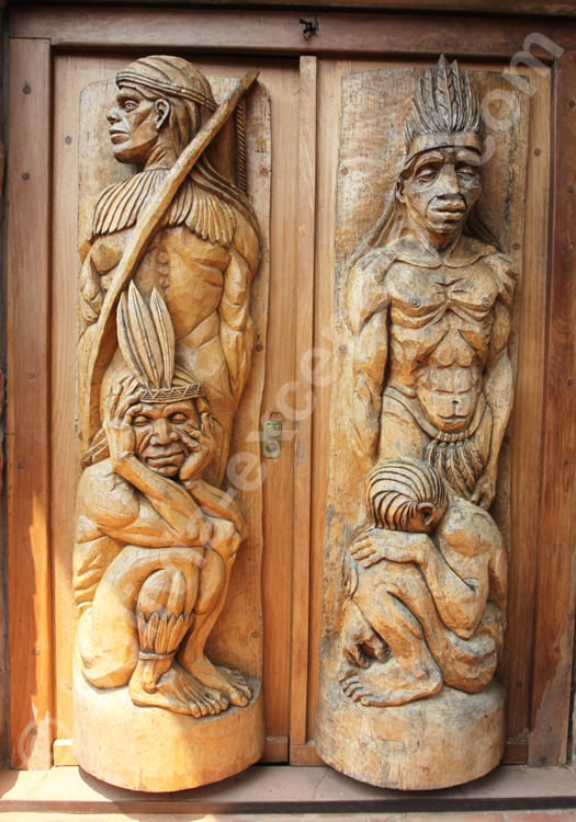 Sculpture du sanctuaire de Chochis