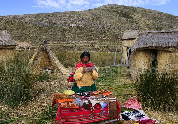Artisanat en totora, Bolivie