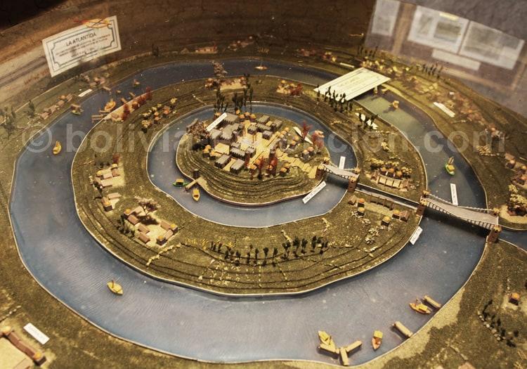 Maquette de l'Atlantide sur l'Altiplano
