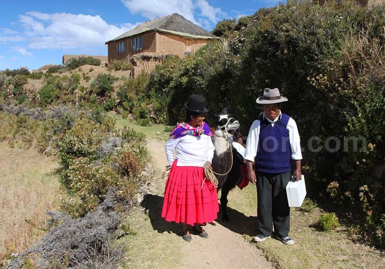 Aymaras sur l'île du Soleil