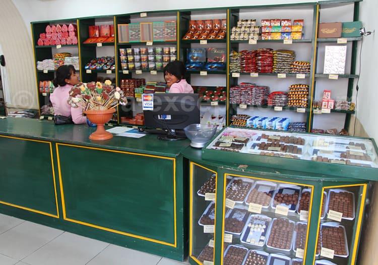 Chocolaterie à Sucre, Bolivie