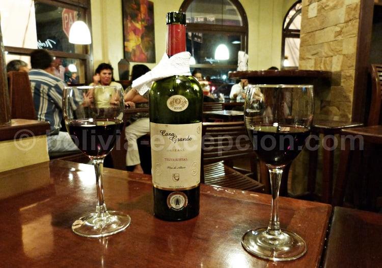 Dégustation de vins à Tarija, Casa Grande