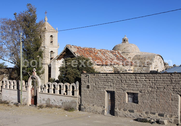 Eglise de Jirira, rive nord du Salar d'Uyuni