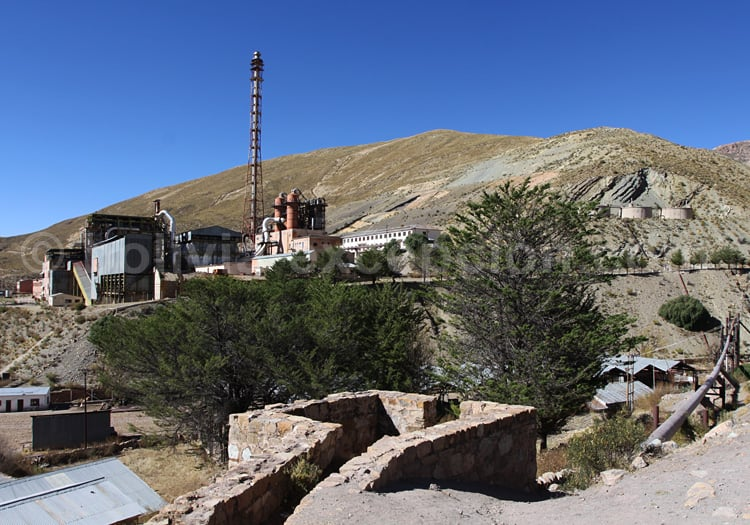 Usine d'exploitation minière, près de Potosi