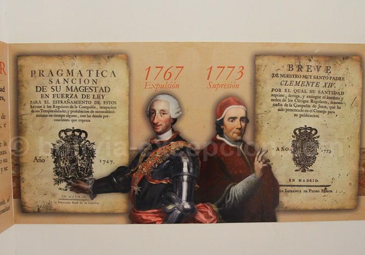 Dates de l'expulsion puis de la suppression de l'ordre des jésuites