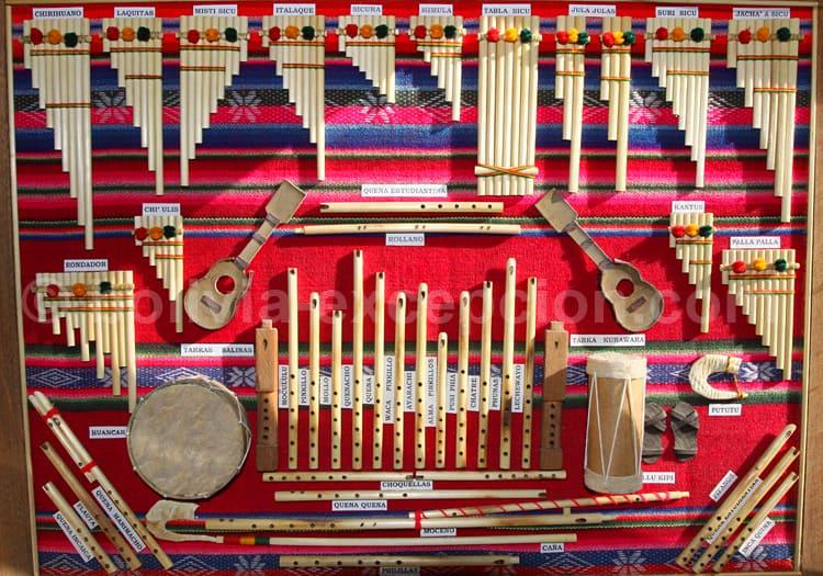 Différentes flûtes typiques de Los Yungas