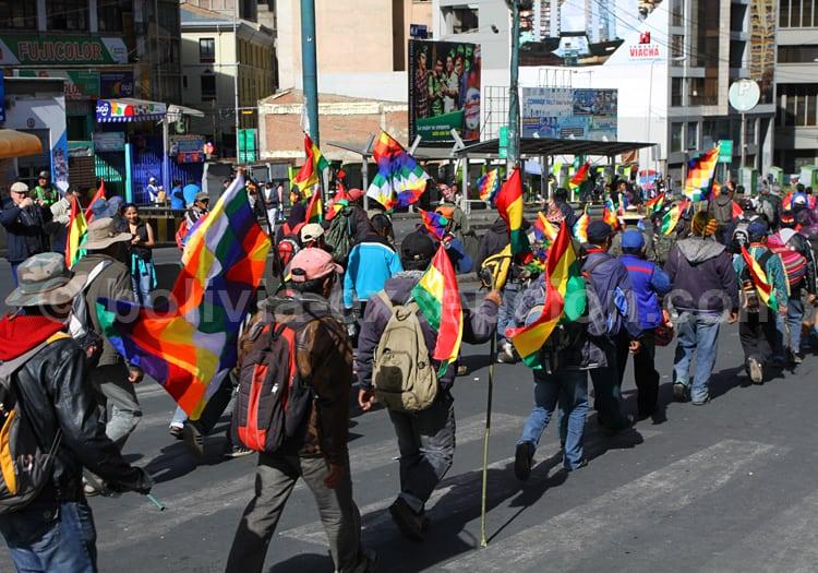 Manifestation à La Paz