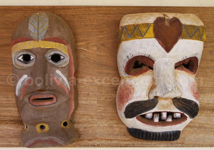 Masques de théâtre, musée de Concepcion
