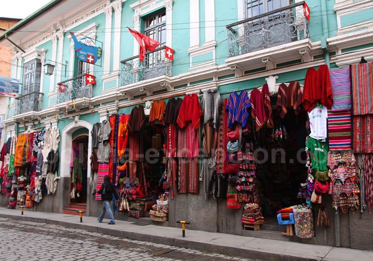 Le poncho traditionnel bolivien