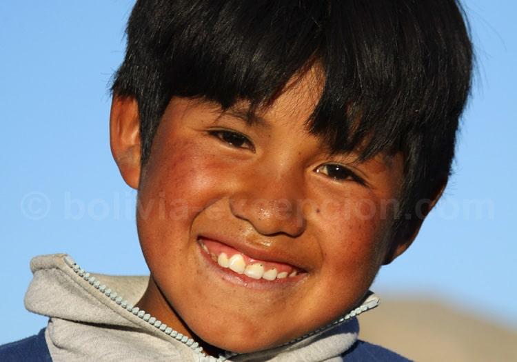 Enfant quechua, Uyuni