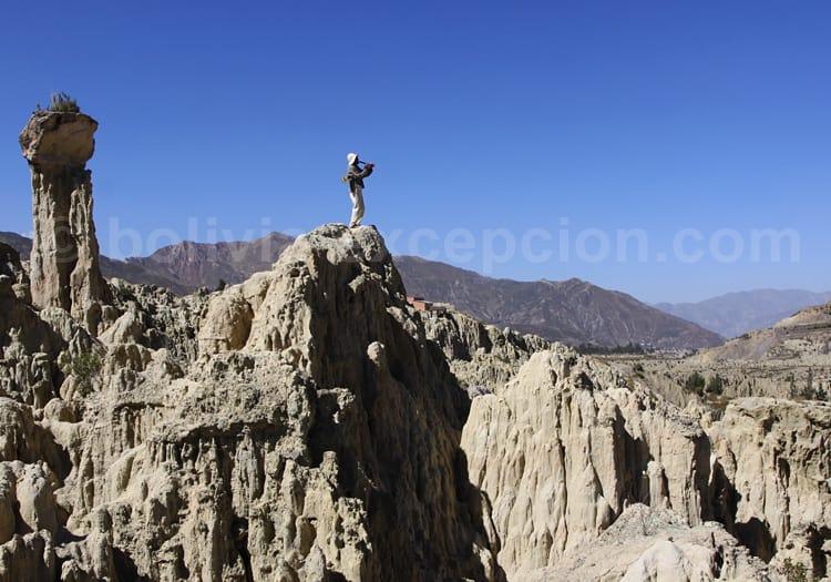 Quena et violon chapaco, valle de La Luna, La Paz