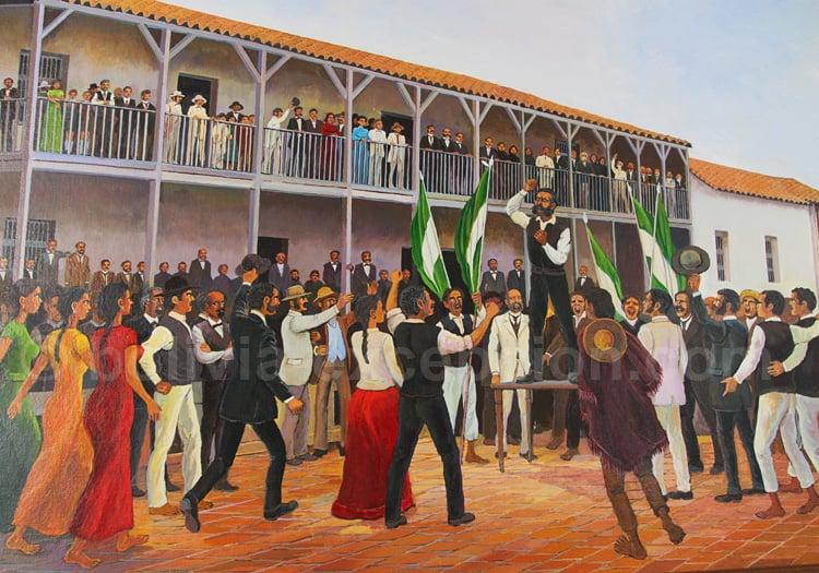 Scène de la vie politique à Santa Cruz – Musée d'Histoire Regionale, Santa Cruz