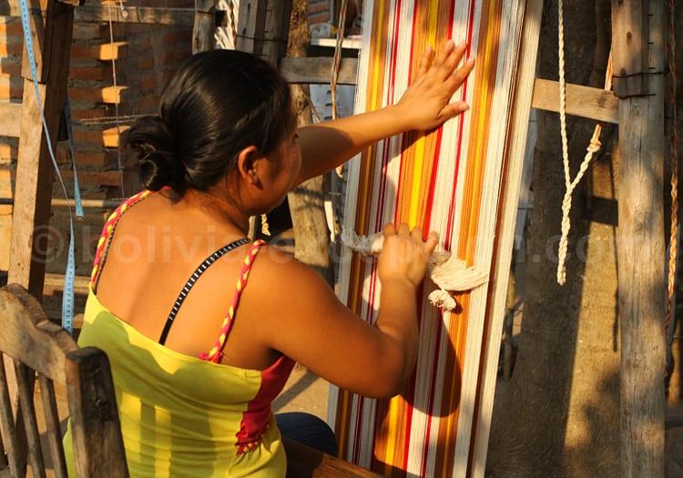 Atelier de tissage, San Jose de Chiquitos