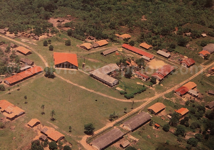 Vue aérienne d'une mission jésuite