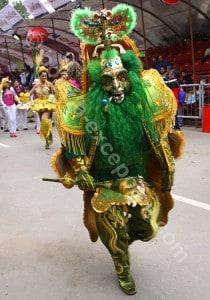Les masques utilisés au carnaval de Oruro