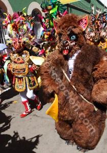 Masque de carnaval sud-américain