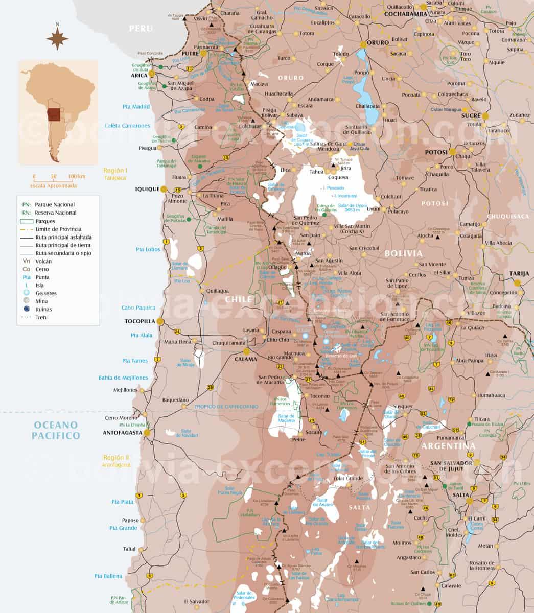 Carte noa Atacama Uyuni