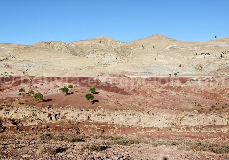 Les paysages arides du nord de Sucre