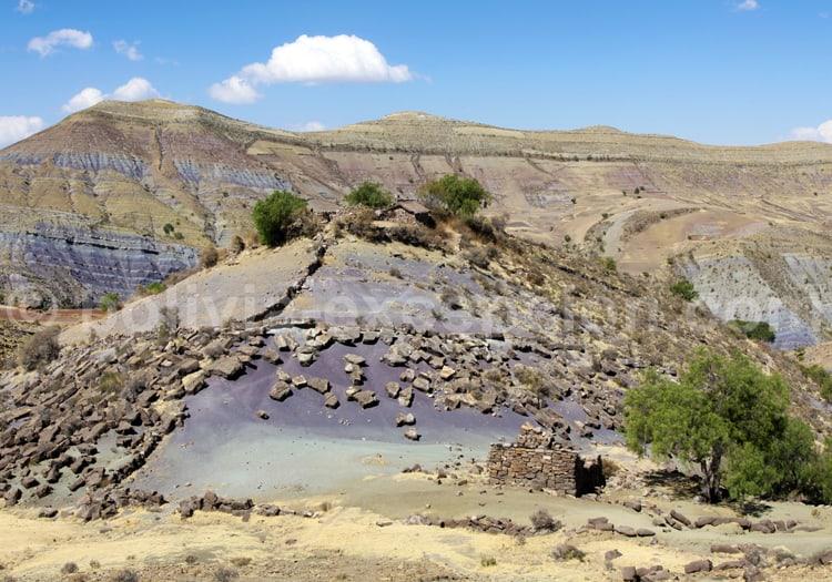 Cratère de Maragua, camaïeu de couleurs