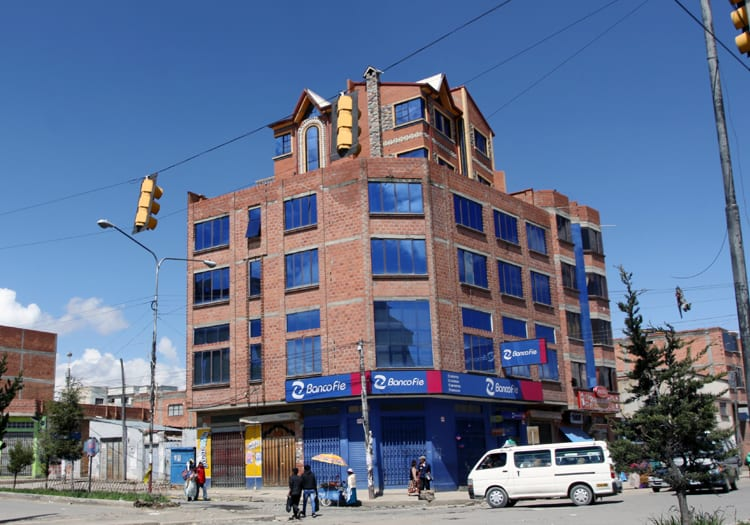 Immeuble à l'architecture Aymara