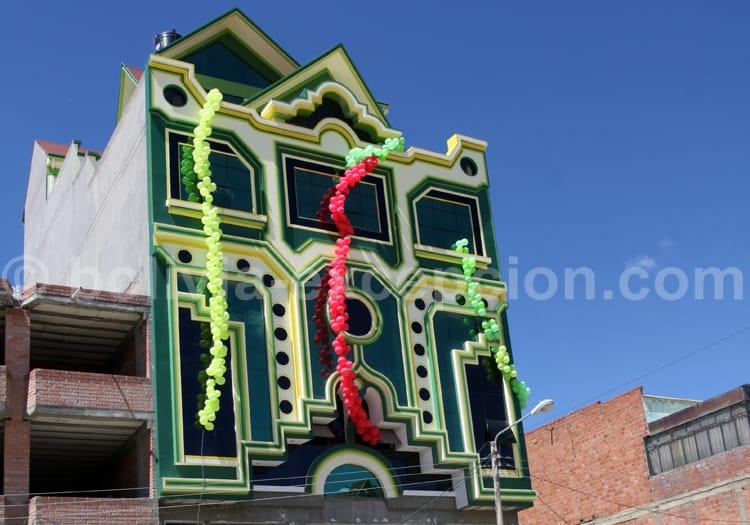 Maison décorée, architecture Aymara