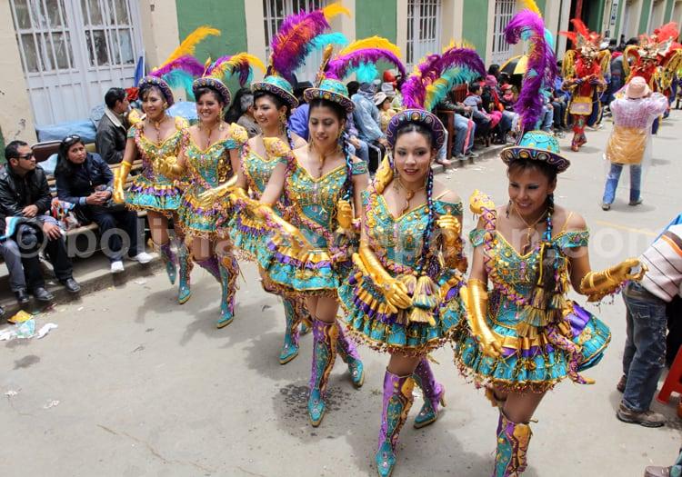 Chorégraphie au carnaval d'Oruro