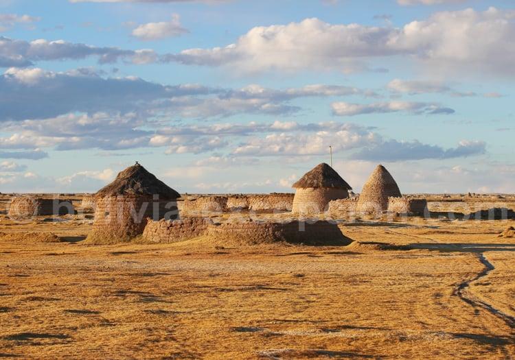 Village Chipaya, Bolivie