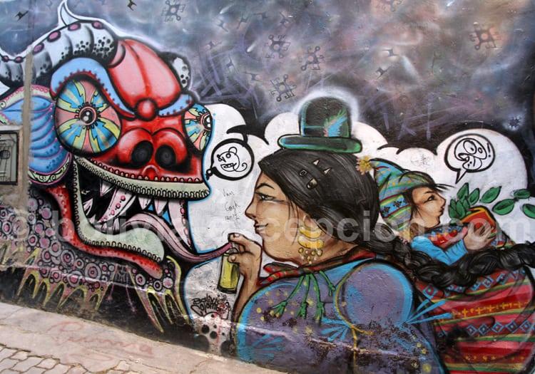 Fresque murale, La Paz