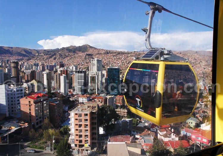 Ligne jaune, télécabines de La Paz