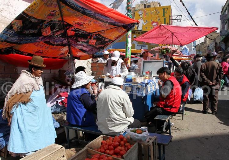 Scène de vie, marché de La Paz