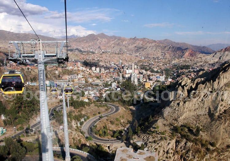 Vue aérienne de La Paz
