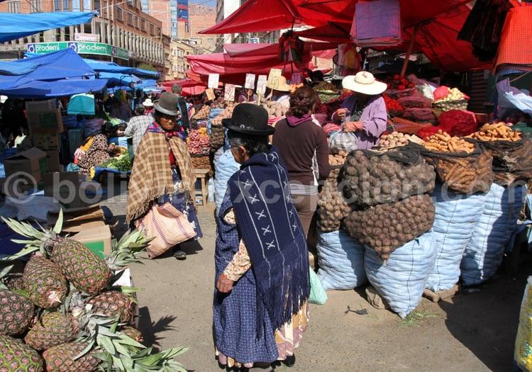 Mercado de la Paz, Bolivia