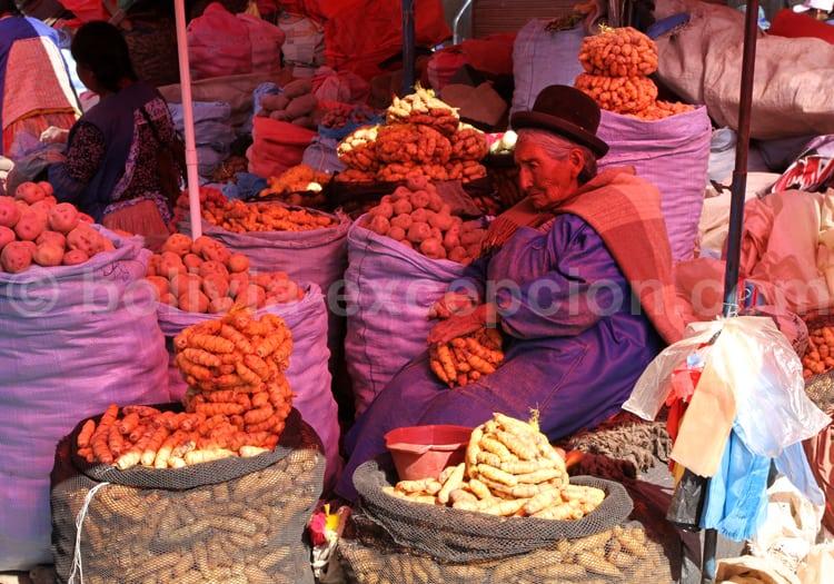 Vendeuse de légumes, La Paz