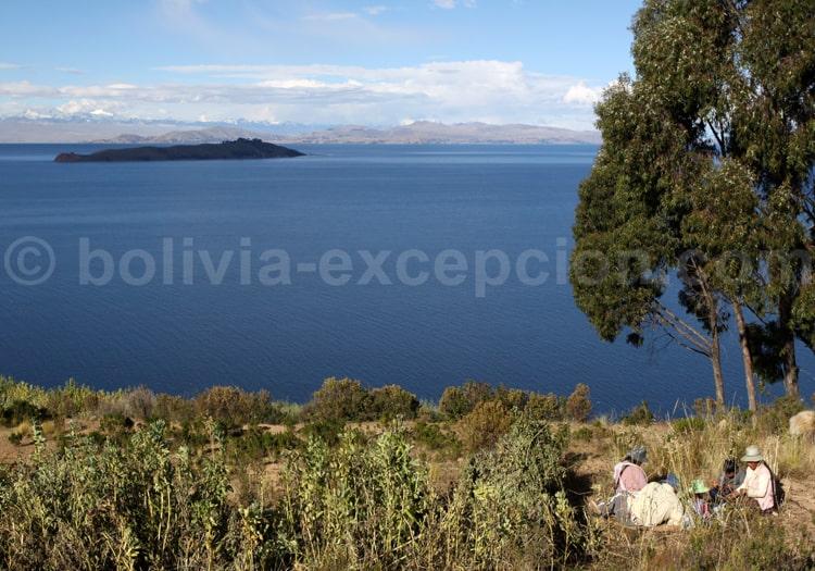 Vue sur le Lac Titicaca, Bolivie