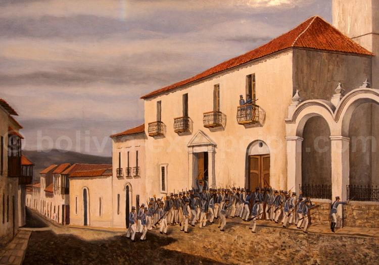 Arrestation de Sucre 1828