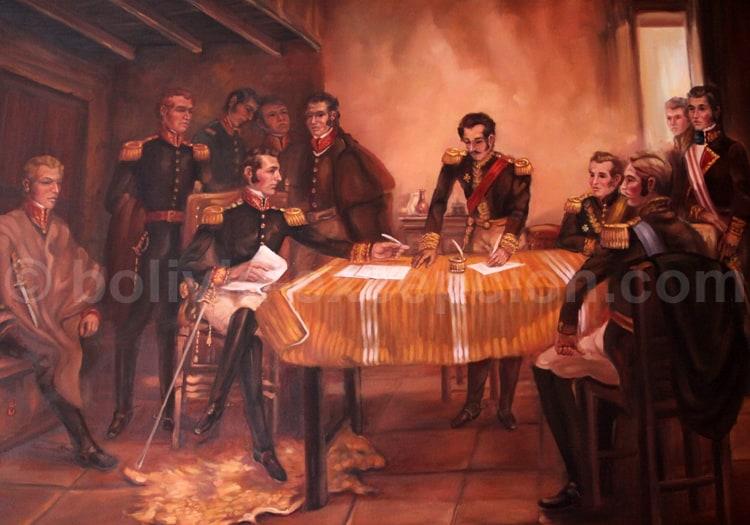 Capitulation d'Ayacucho, Généraux Sucre et Canterac 1824